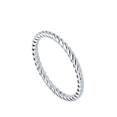 ANILLO TWISTED SILVER