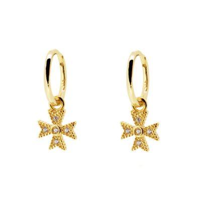 Aros Cruz de Malta Oro