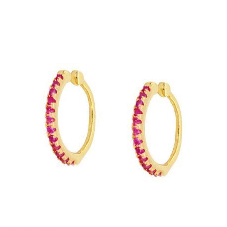Ear Cuff Oro Rubi