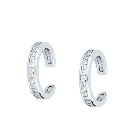Ear Cuff Plata Piedras