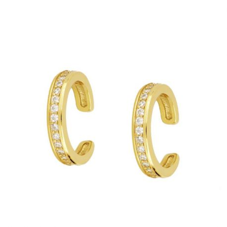 Ear Cuff Oro Piedras