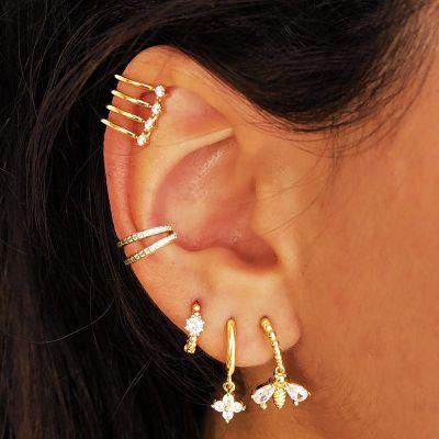 Ear Cuff Piedras Plata