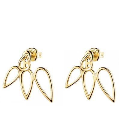 Pendientes Ear Jacket Oro