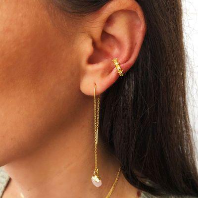 Ear Cuff Piedras Oro