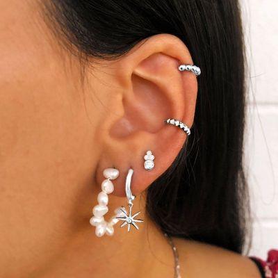 Ear Cuff Spike Plata