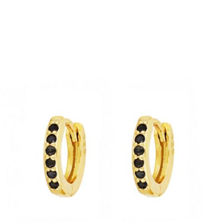 Aros Mini Black Stone Gold