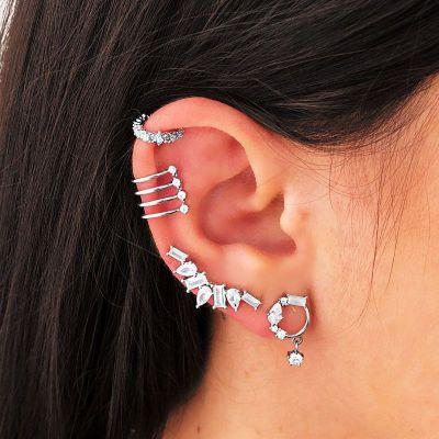 Ear Cuff Suelto Alisa Plata