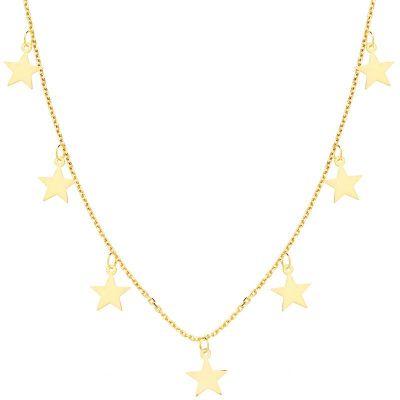 Collar Chapas Estrellas Oro