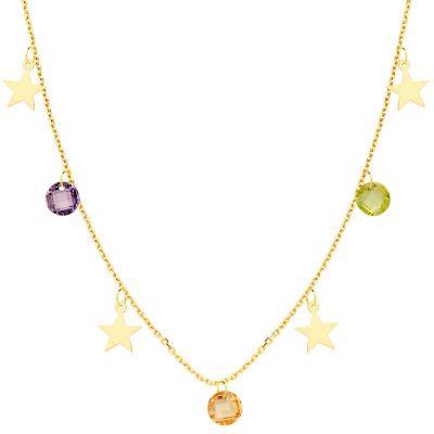 Gargantilla Estrellas Mujer Oro Amarillo 18 Ktes