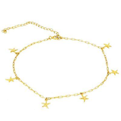 Tobillera Estrellas de Mar Gold
