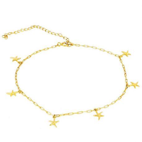 Tobillera Estrellas de Mar Plata