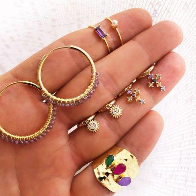 Anillo Mineral Purple Gold