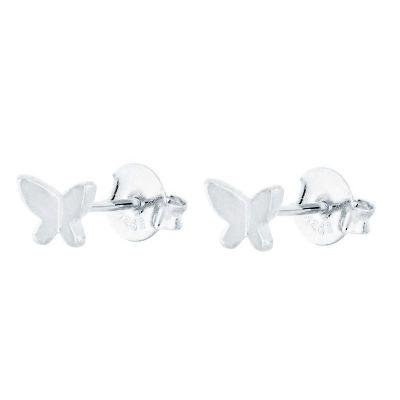 Pendientes de Mariposa en Plata
