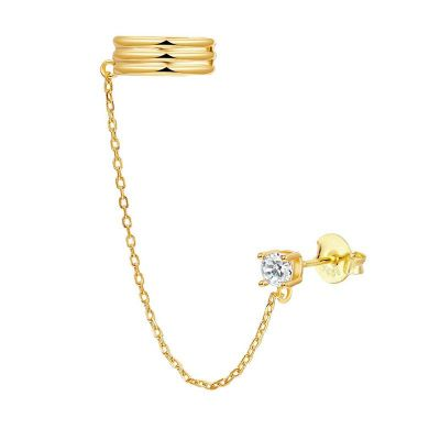 Ear Cuff Zirconia Gold