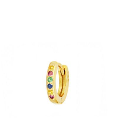 Aro Suelto Mini Rainbow Gold