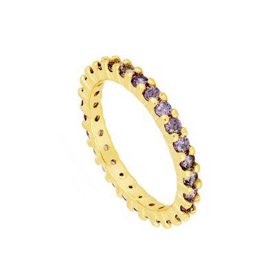 Anillo Purple Stone Gold