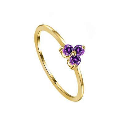 Anillo Elise Purple Gold
