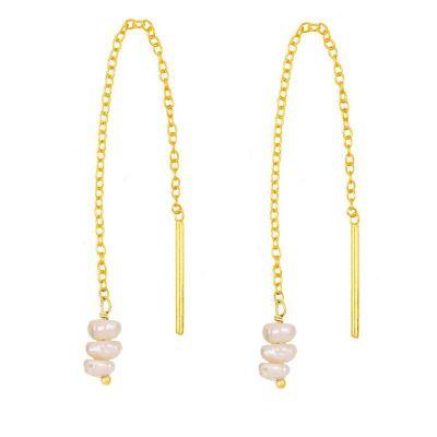Pendientes de Perlas en Plata