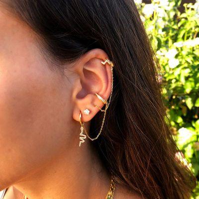 Ear Cuff de Mujer en Plata