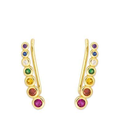 Pendientes Sabira Rainbow Gold