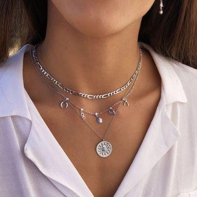 Collar Amazonita medallon Plata