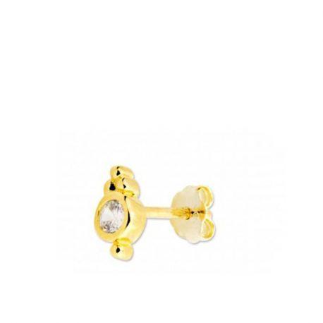 piercings de oreja oro