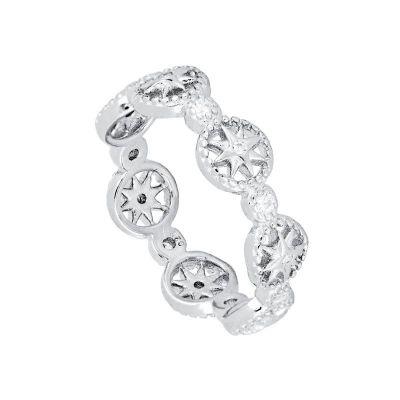 anillo de plata anchos mujer