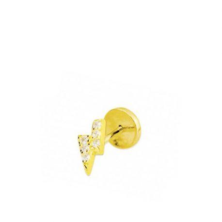 Perforacion oreja de oro rayo