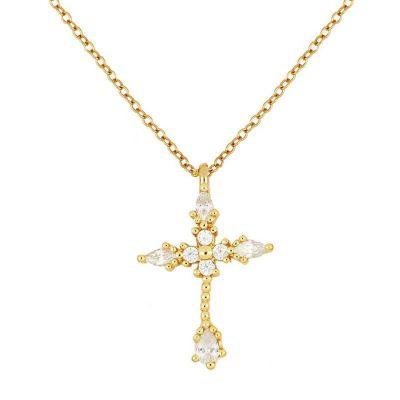 Gargantilla de oro con colgante de cruz
