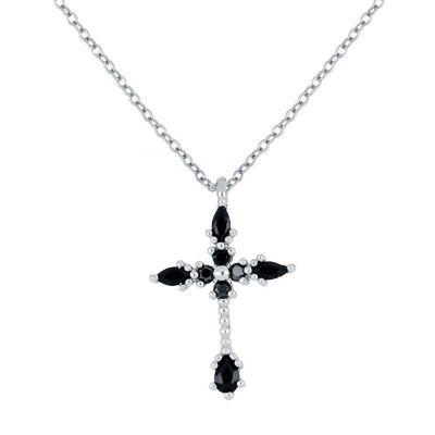 colgante cruz en plata