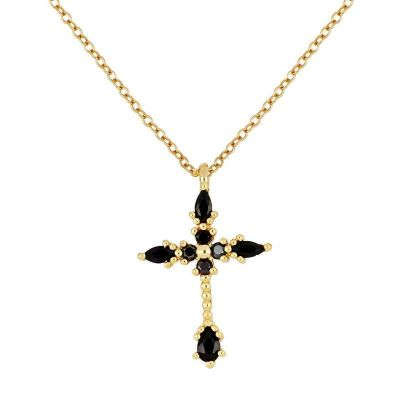 gargantilla de oro para mujer con cruz