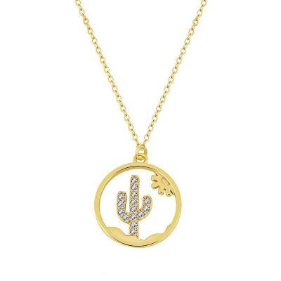 gargantilla de oro con cactus