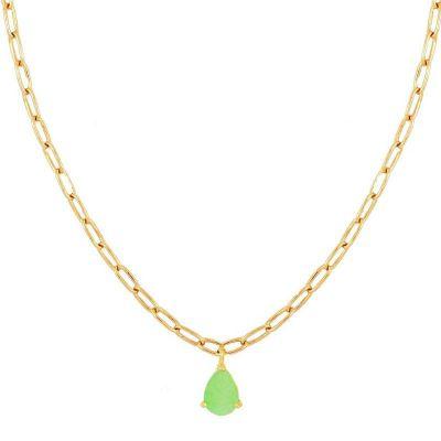 collar de oro con prehnita
