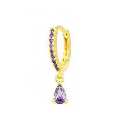 Piercing en las orejas de oro con piedras