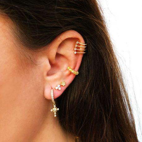 piercing de oreja oro