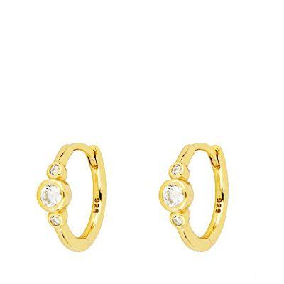 aros de oro mini mujer