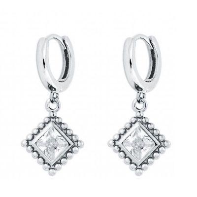 aros de plata con circonitas blancas