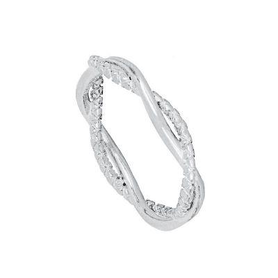 anillo de plata retorcido