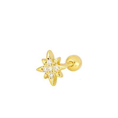 Piercing de oro con estrella