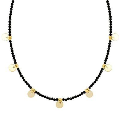 collar con piedras espinelas oro