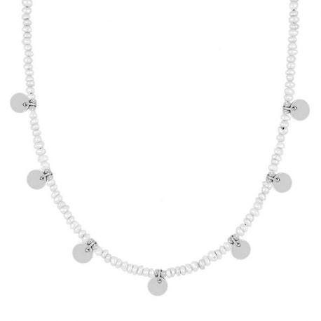 collar de moda con perlas naturales