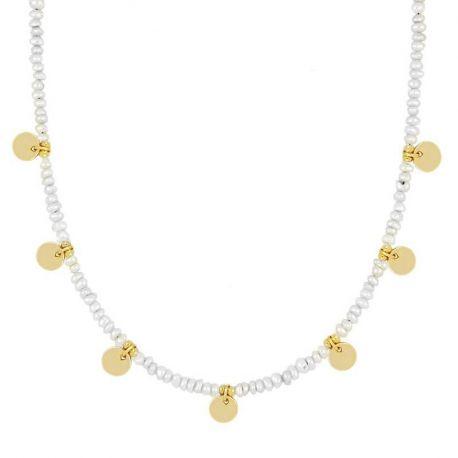 gargantilla de oro con perlas naturales