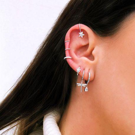 Piercing aro oreja con piedras