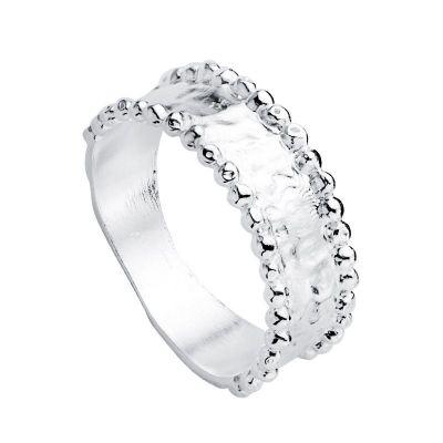 anillo ancho de plata