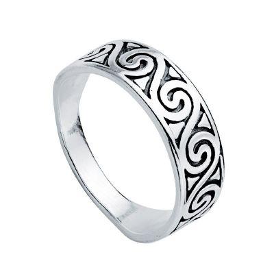 anillo boho espirales de plata