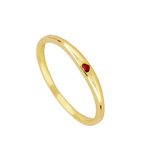 anillo fino de oro corazon