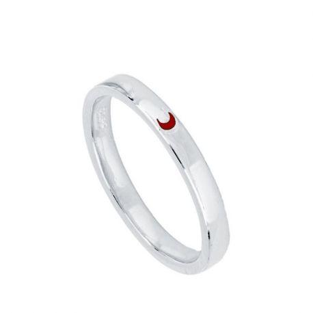 anillo fino de plata corazón