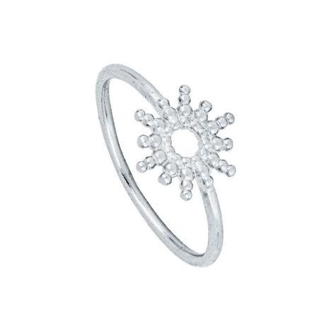 anillo de sol en plata