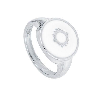 sello de plata mujer sol