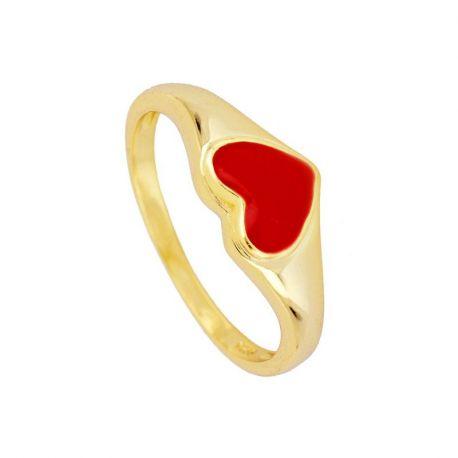 sello de mujer dorado corazon